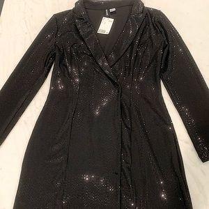 H&M Sequin Jacket Dress